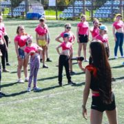 Master class in sports ballroom dancing for young cheerleaders