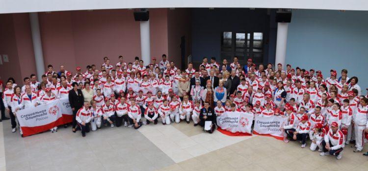 Наши спортсмены участвуют в первых соревнованиях по чирлидингу (чир спорту) в рамках Всемирных игр Специальной Олимпиады